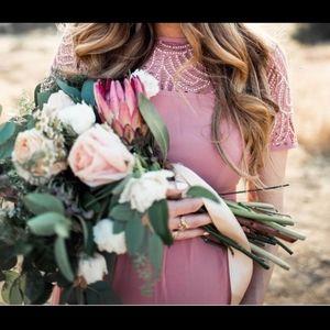 Dusty rose maternity dress